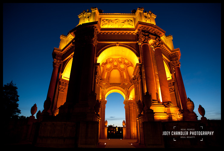 San Francisco's Beautiful Palace of Fine Arts at Sunrise - San Francisco Photographer Joey Chandler
