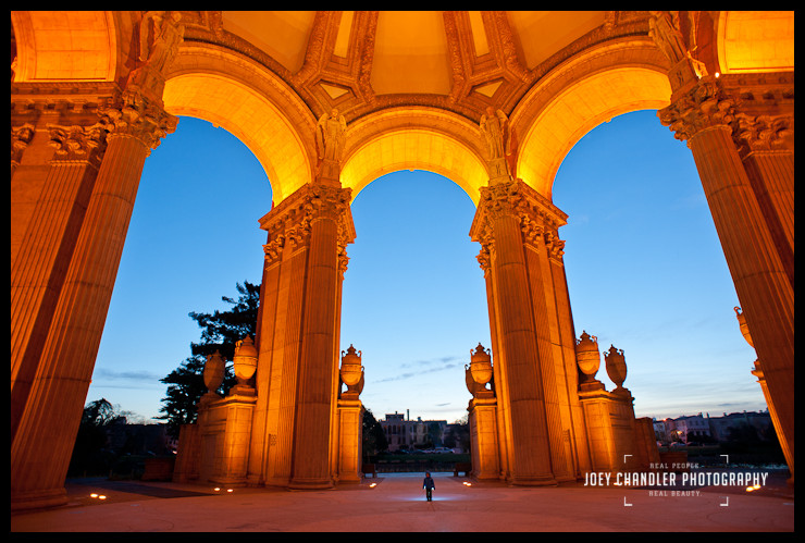 Small Boy in the Grandeur of the Palace of Fine Arts - San Francisco Photographer Joey Chandler