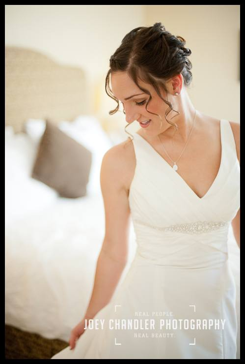 Bride smiling after putting on her wedding dress-San Francisco Wedding-Alysse and Cody