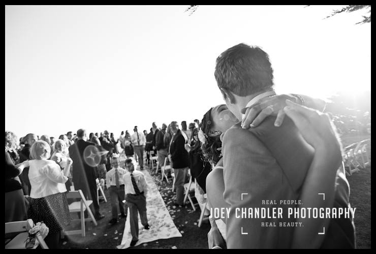 Bride and groom celebrating at Sutro Heights Wedding - San Francisco Wedding - Alysse and Cody