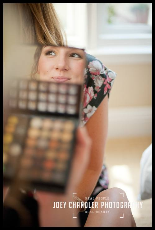 Bride smiling in her makeup mirror-San Francisco Wedding-Alysse and Cody