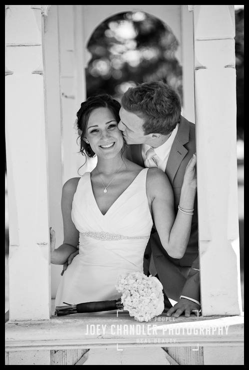 Bride and Groom smiling at Sutro Heights - San Francisco Wedding - Alysse and Cody