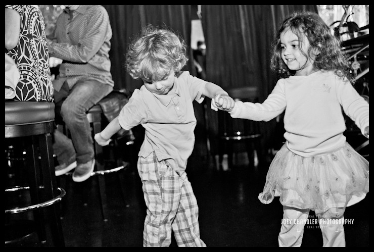 Boy and Girl dancing at wedding reception in San Francisco at Rouge