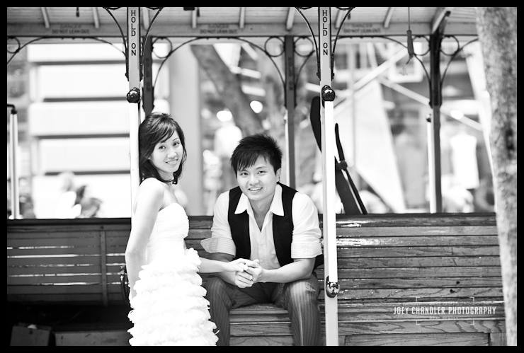 a San Francisco cable car moment - San Francisco Engagement Photographs