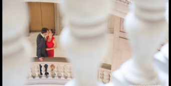 Couple kissing after their San Francisco City Hall Wedding