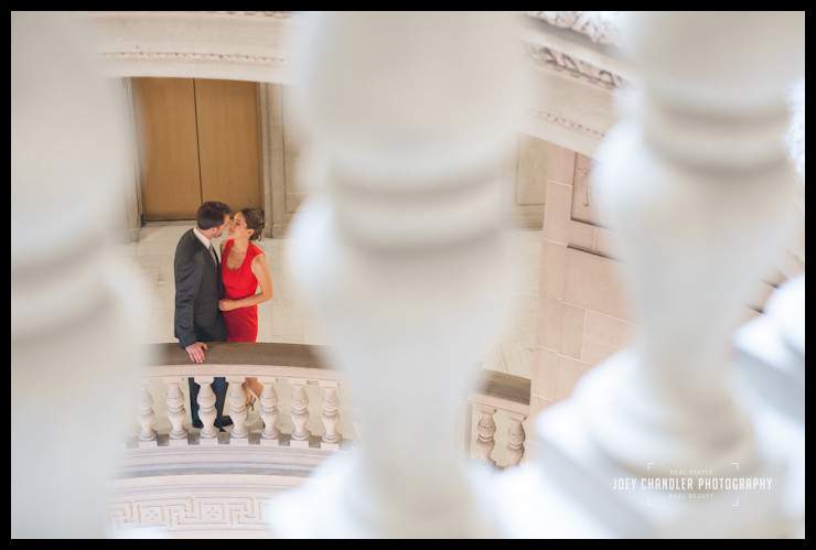 Nothing says San Francisco City Hall Wedding like a Red Dress