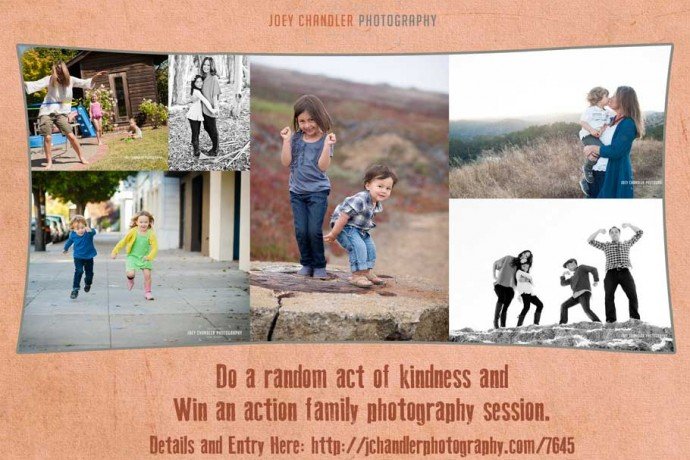 win a photography session by being kind